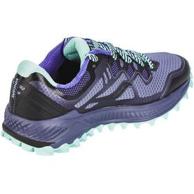 saucony Peregrine 8 Shoes Women Grey/Violet/Aqua